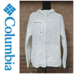Columbia | Lightweight Zip-up Windbreaker White